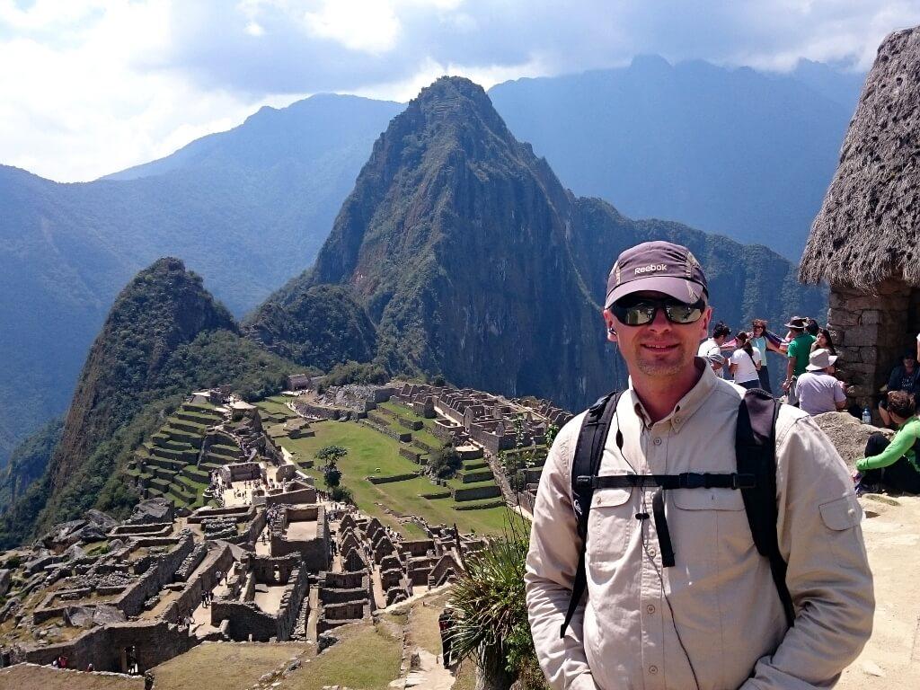 Darek w Machu Picchu