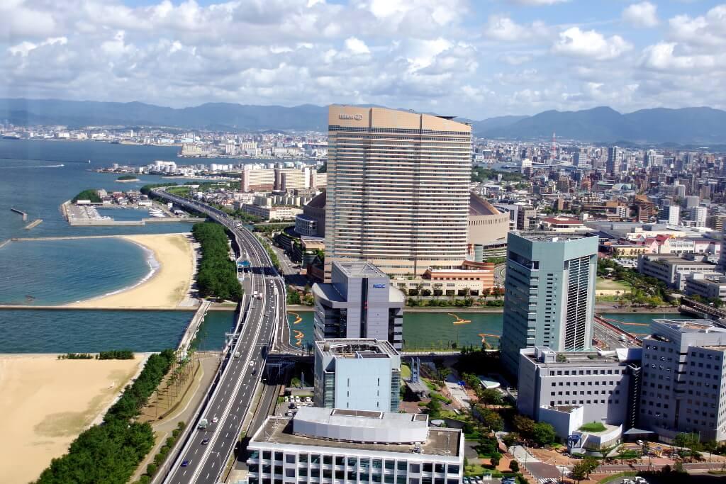 Fanorama miasta Fukoka