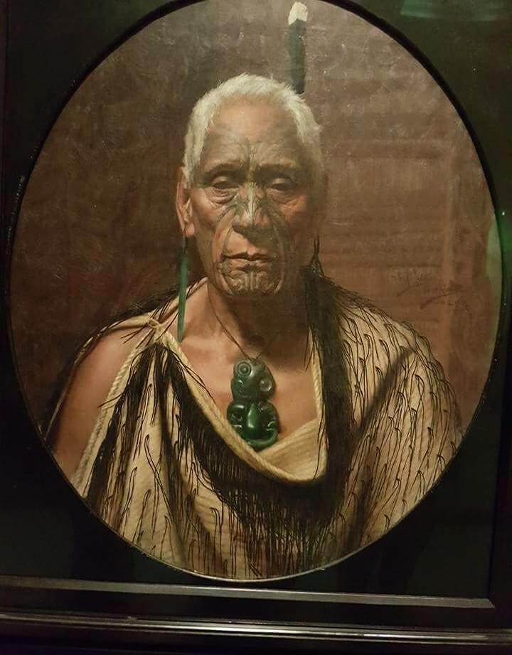 Portret Maoryskiego wódza