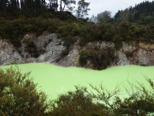 Niesamowite kolory źródeł Waiotapu