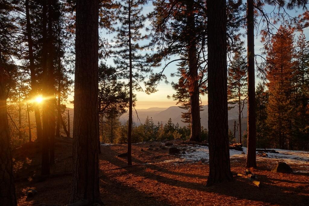 Zachód słońca w Kalifornii