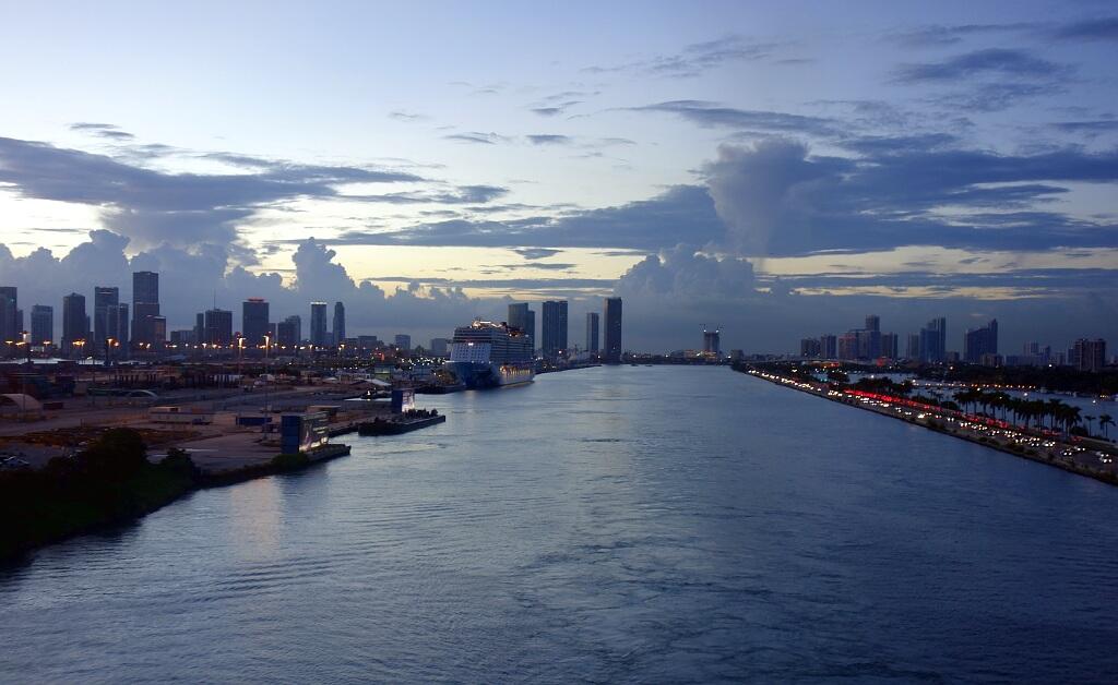 Miami wejście do portu, USA