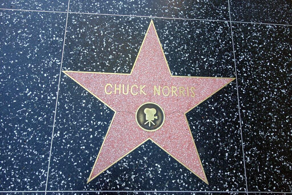 Gwiazda Chucka Norrisa w Aleji gwiazd w Hollywood
