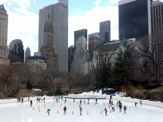 lodowisko w Central Park
