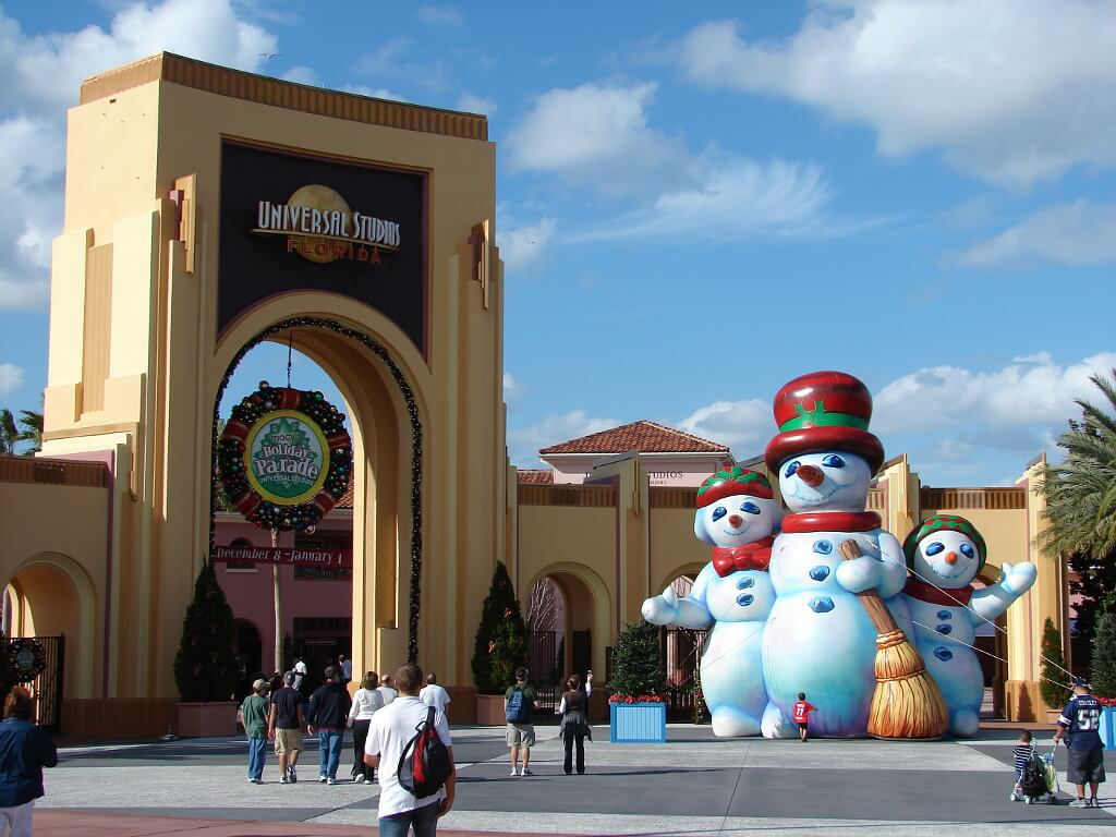Bałwan przed wejściem do parku rozrywki - Universal Studios na Florydzie