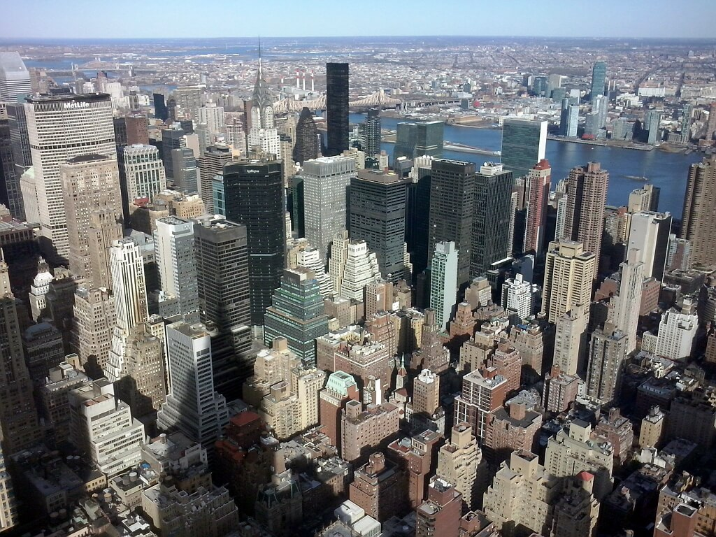 panorama na Nowy Jork z Empire State Building
