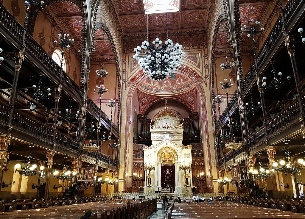 Synagoga w Budapeszcie - wnętrze