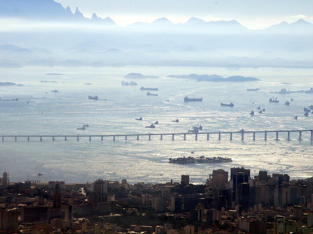 Brazylia, widok na zatokę w Rio
