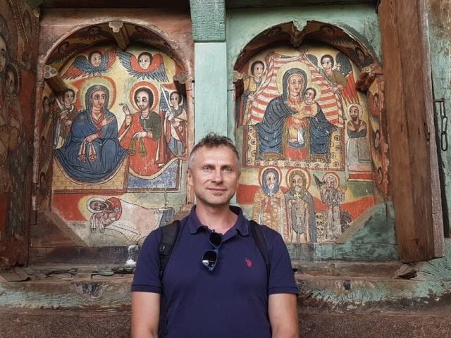 Chrześcijańskie malowidła w kościele Ura Kidame Mehret