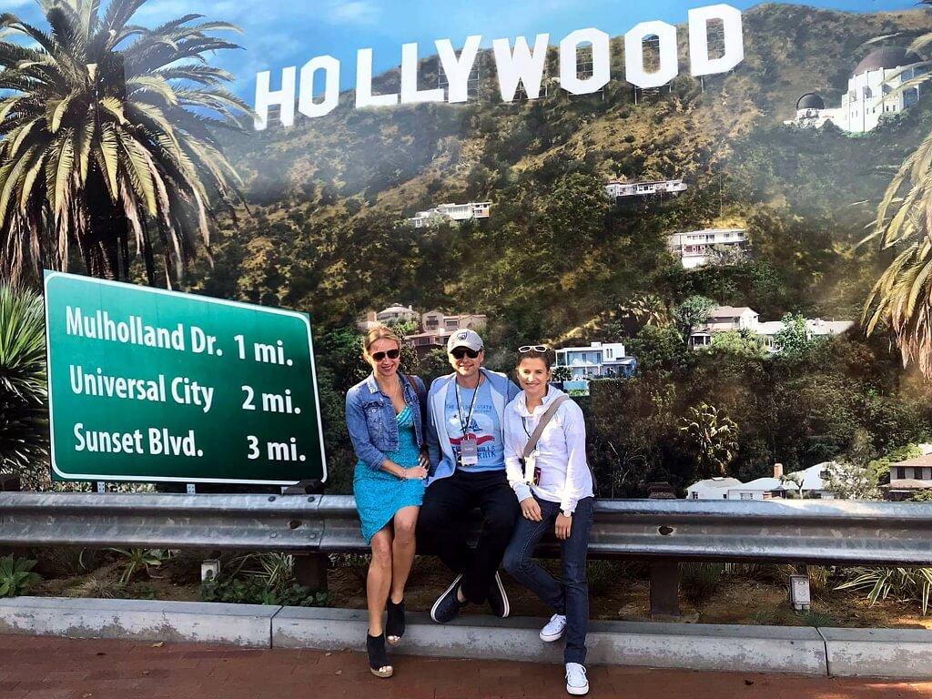 Darek z Żanetą Auler w Hollywood, USA