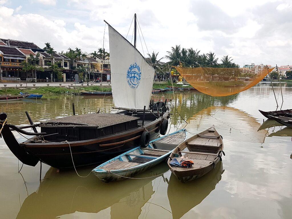 Tradycyjne sieci-rybackie w Hoi An