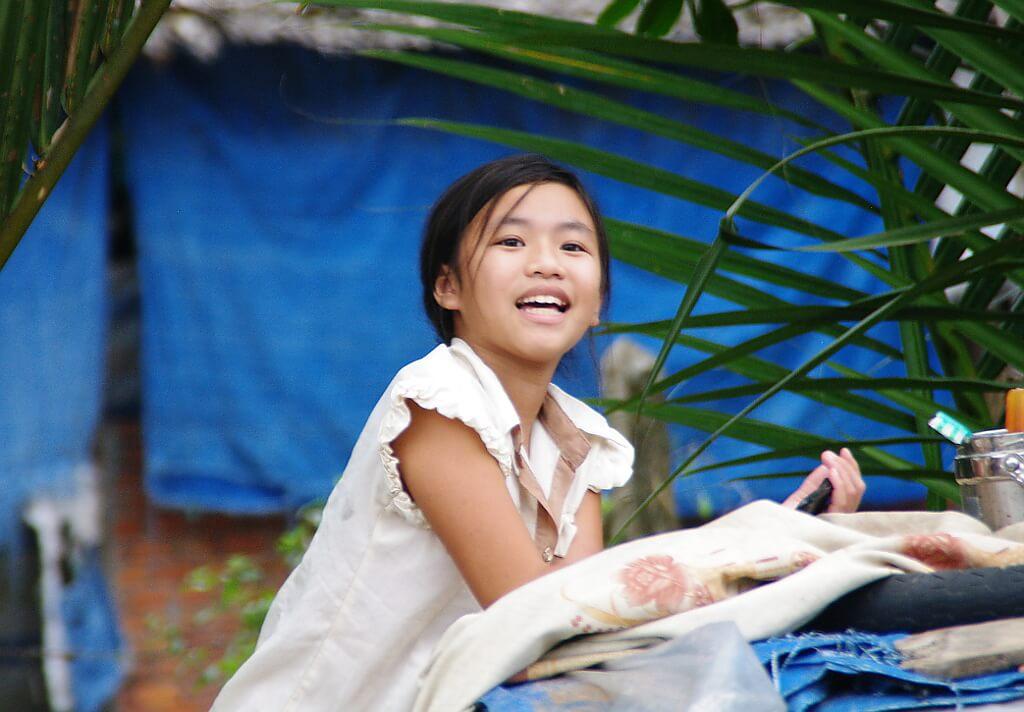 Portret młodej Wietnamki